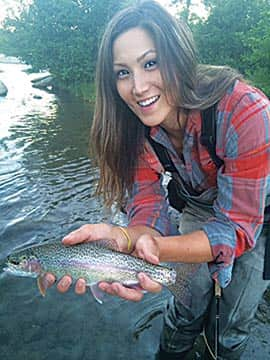 Fly-fishing daughter
